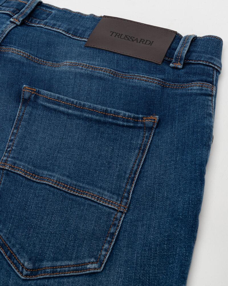 Spodnie Trussardi  52J00000_1Y000186_U260 niebieski - fot:4