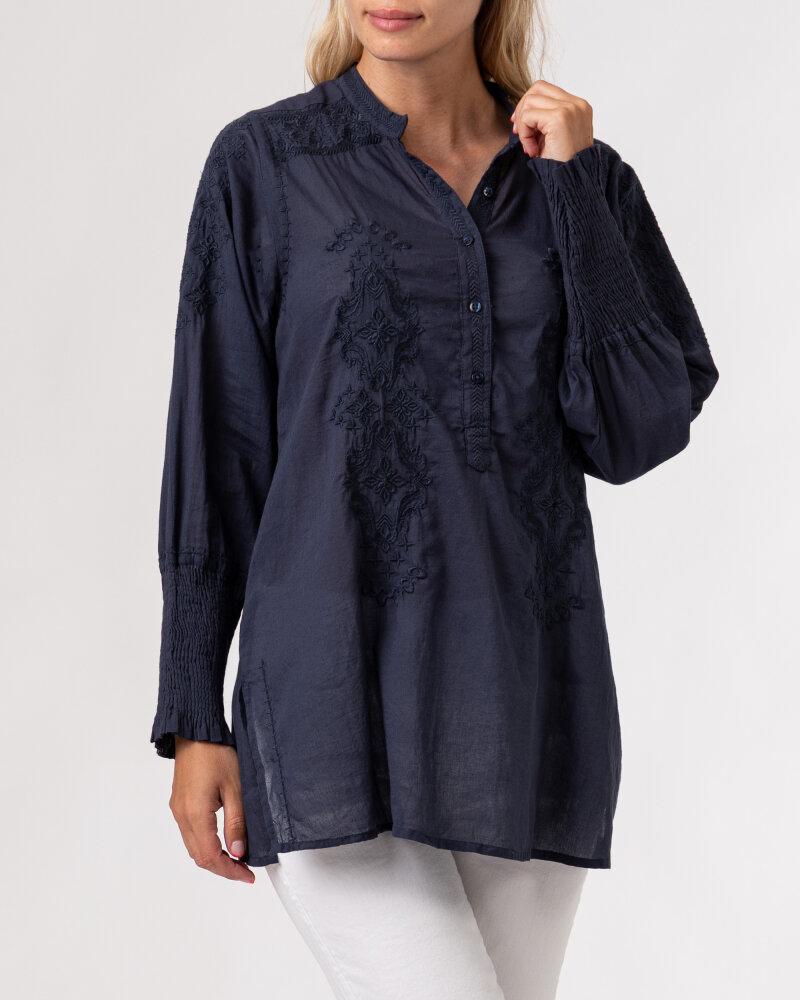 Koszula Lollys Laundry 21201_2000_WASHED BLACK granatowy - fot:2