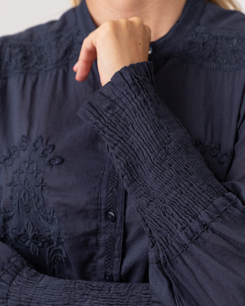 Koszula Lollys Laundry 21201_2000_WASHED BLACK granatowy - fot:4