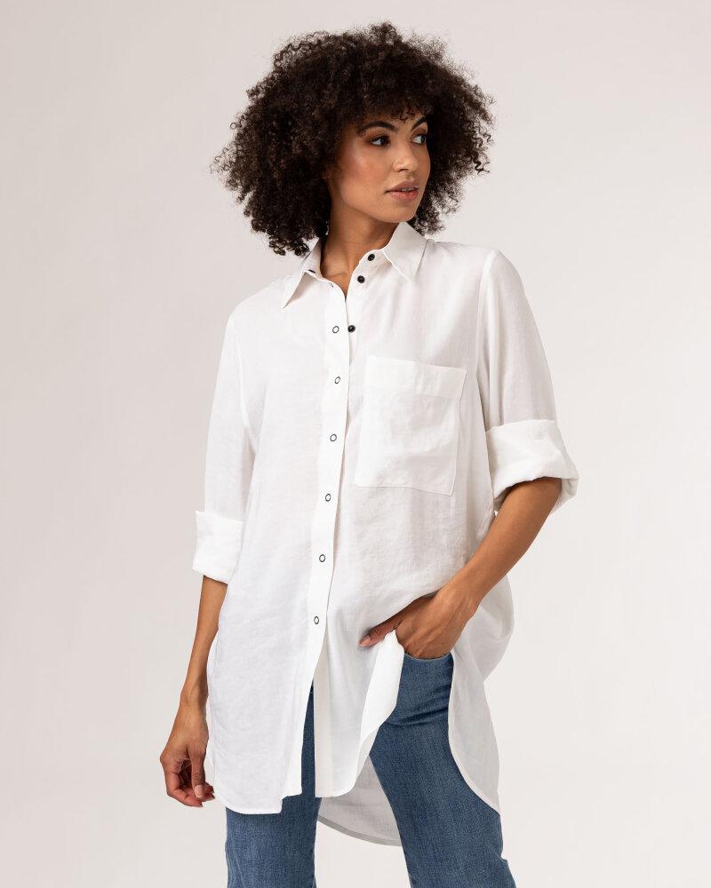 Koszula Fraternity WL21_MIKA_WHITE biały - fot:2