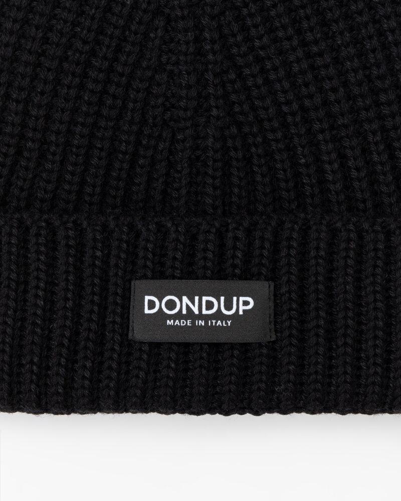 Czapka Dondup UQ065_Y00474U_999 czarny - fot:2