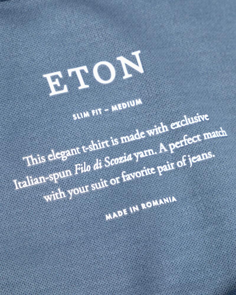 T-Shirt Eton 1000_02356_14 niebieski - fot:5