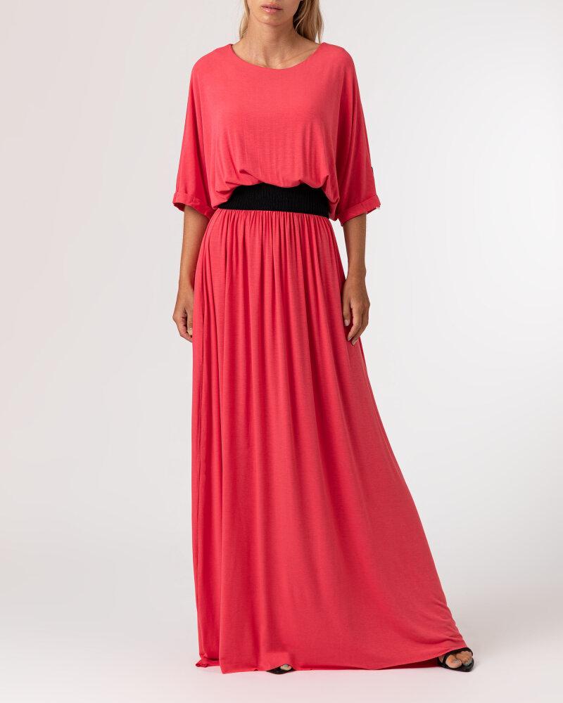 Sukienka Agi Jensen Z Gumą_MALINOWY czerwony - fot:2