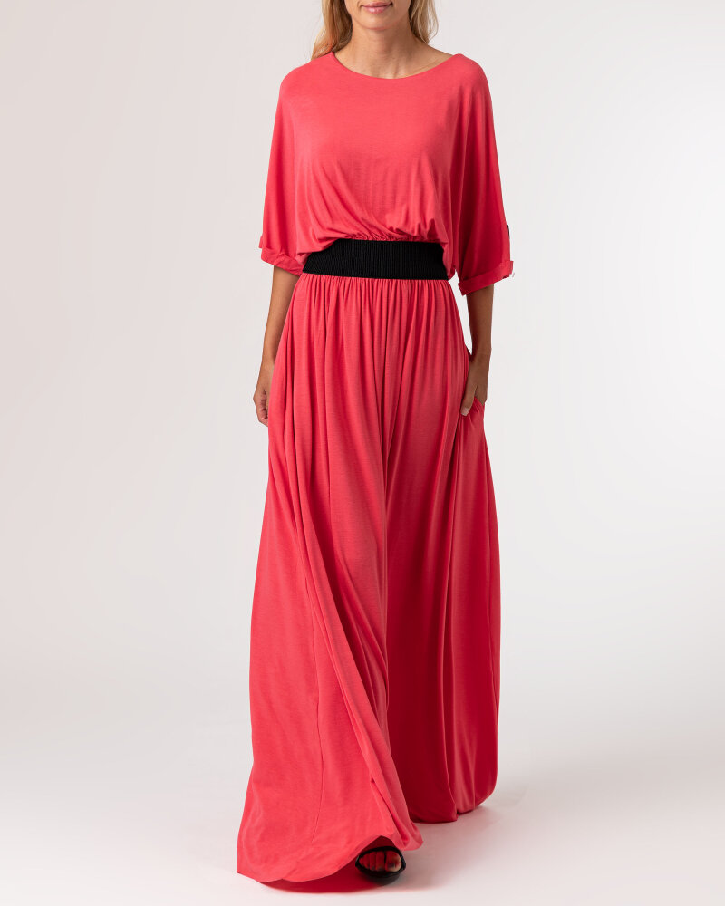 Sukienka Agi Jensen Z Gumą_MALINOWY czerwony - fot:6
