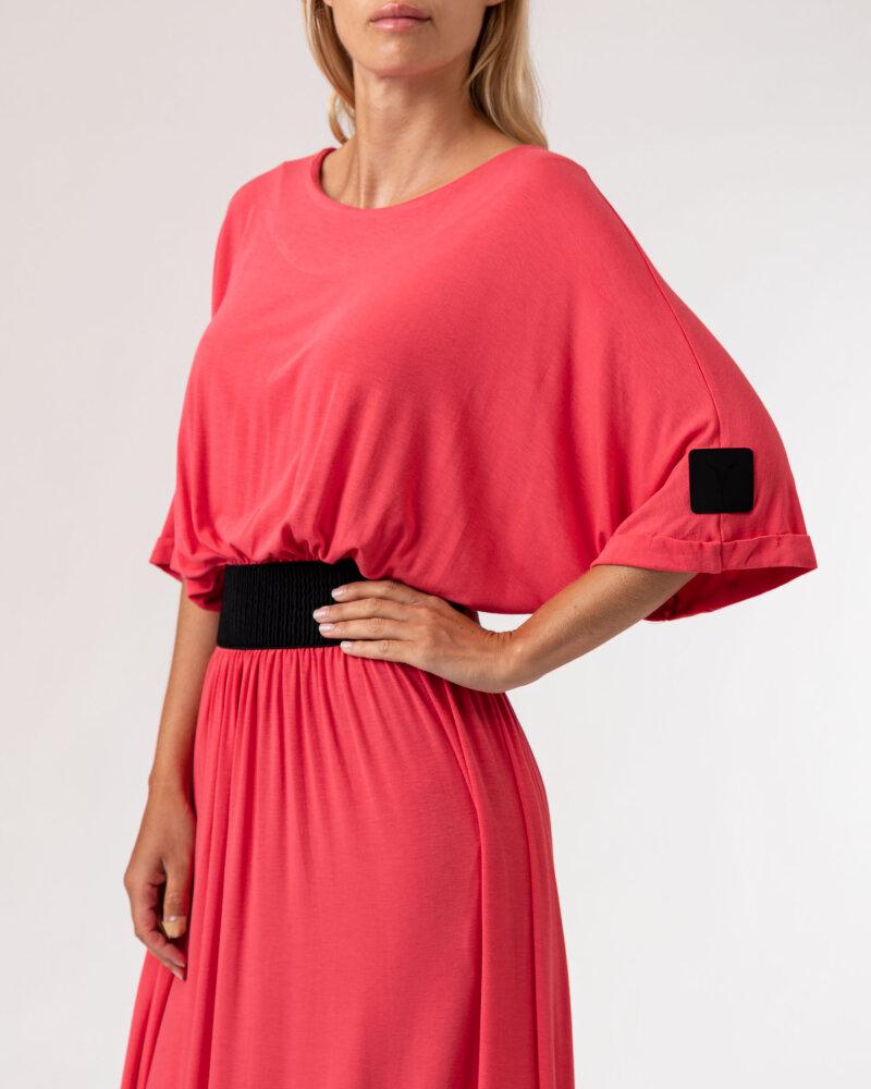 Sukienka Agi Jensen Z Gumą_MALINOWY czerwony - fot:3