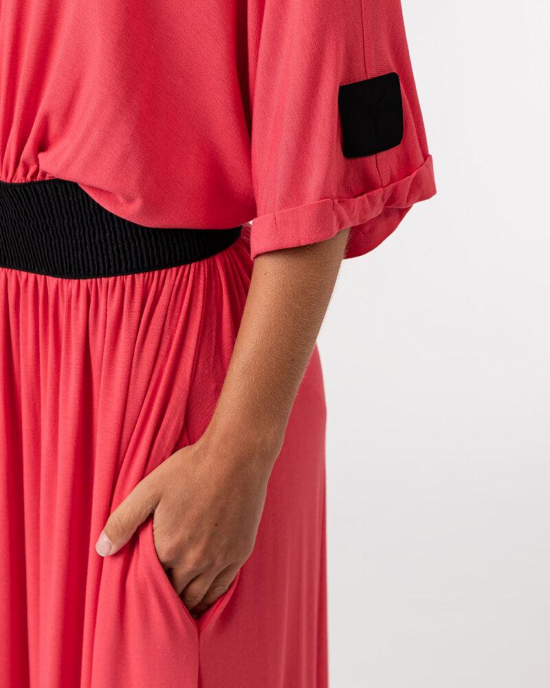 Sukienka Agi Jensen Z Gumą_MALINOWY czerwony - fot:5