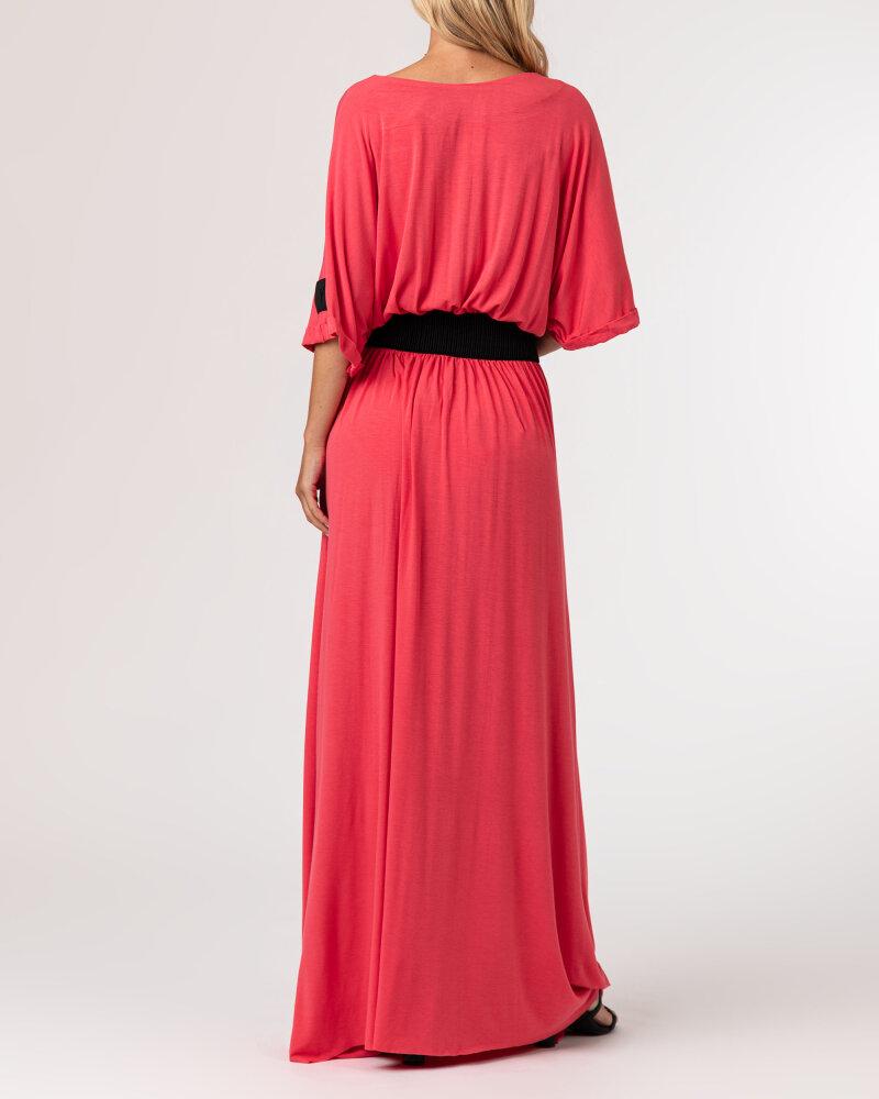 Sukienka Agi Jensen Z Gumą_MALINOWY czerwony - fot:4