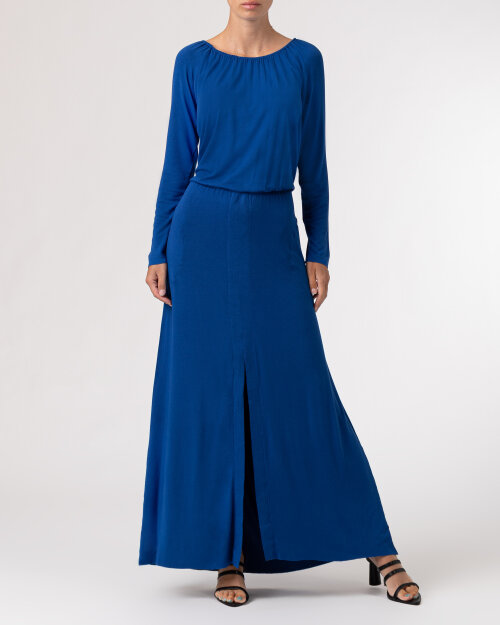 Sukienka Agi Jensen Z Rozporkiem_SZAFIROWY niebieski