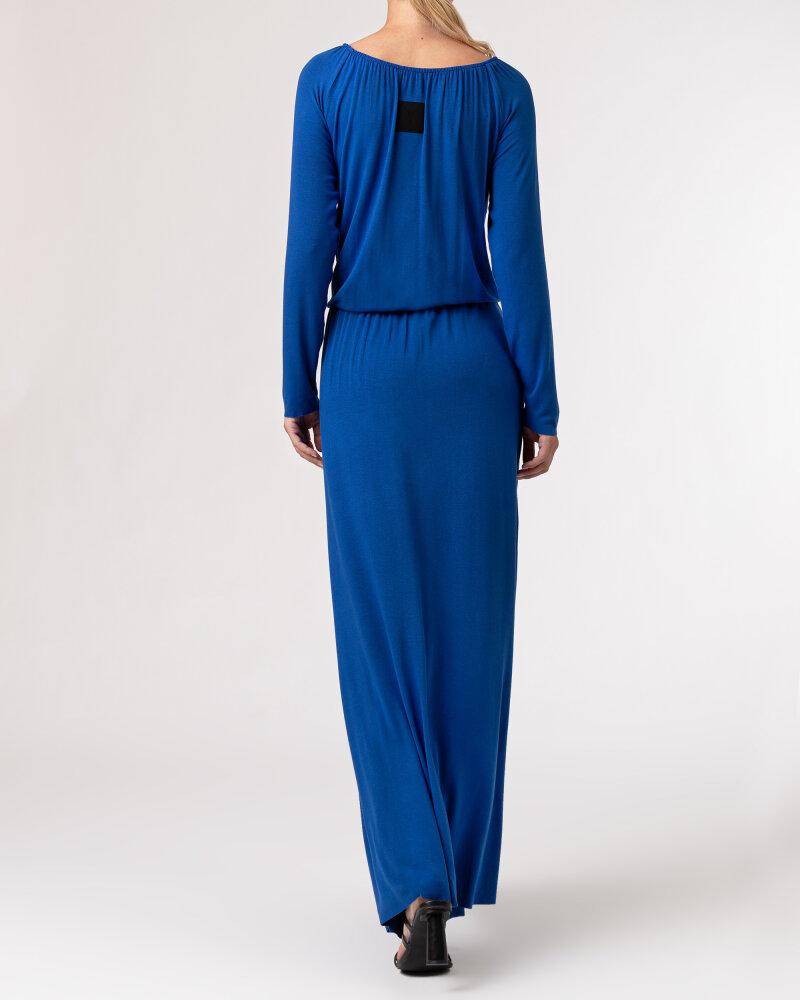 Sukienka Agi Jensen Z Rozporkiem_SZAFIROWY niebieski - fot:4