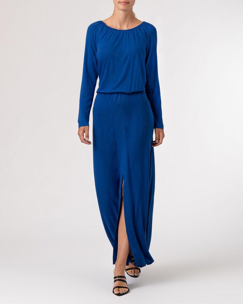Sukienka Agi Jensen Z Rozporkiem_SZAFIROWY niebieski - fot:7