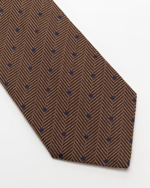 Krawat Eton A000_33099_35 brązowy