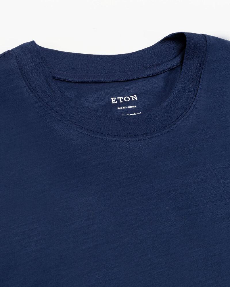 T-Shirt Eton 1000_02356_26 granatowy - fot:2