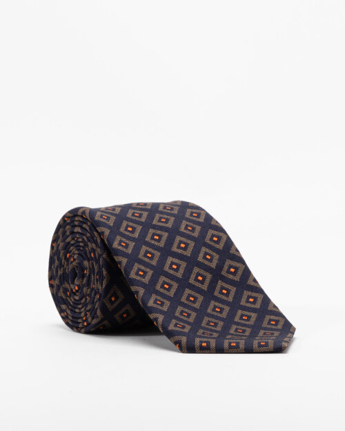 Krawat Eton A000_33140_19 granatowy
