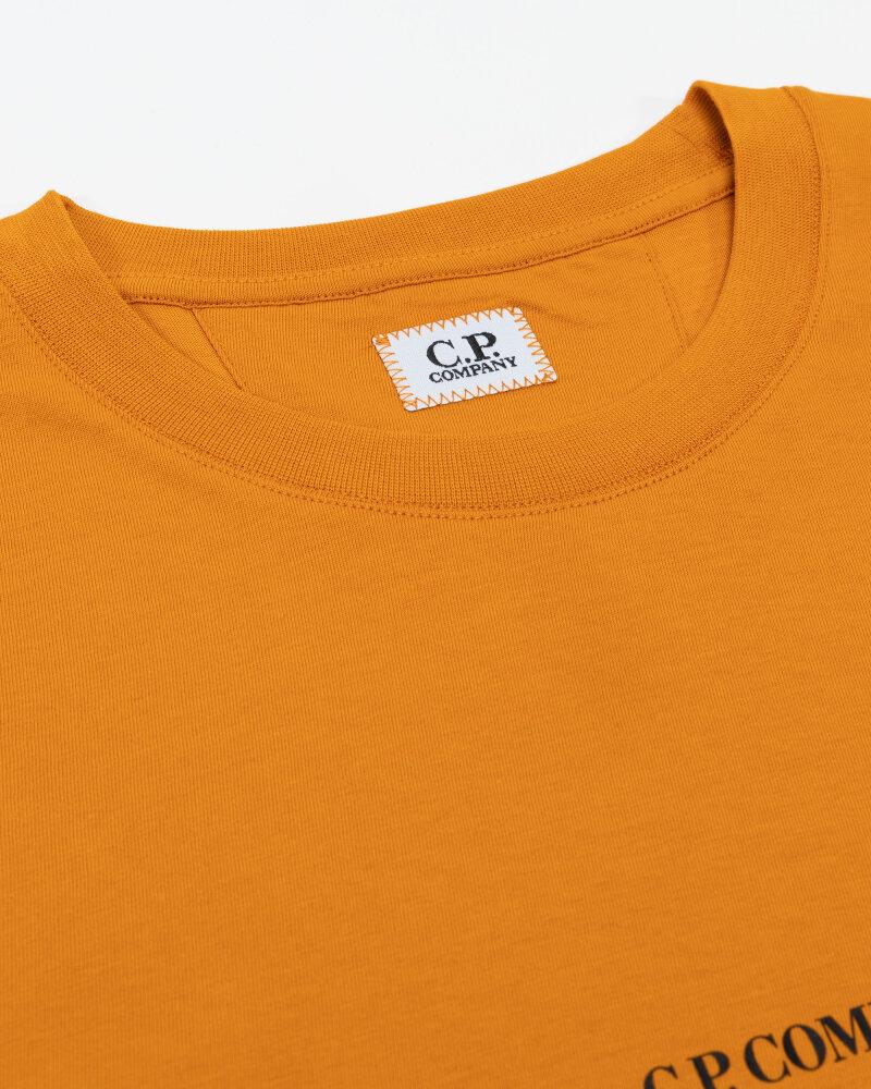 T-Shirt C.p. Company 11CMTS213A006011W_436 pomarańczowy - fot:2