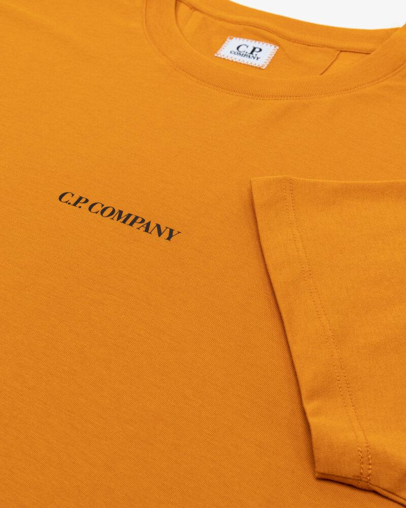 T-Shirt C.p. Company 11CMTS213A006011W_436 pomarańczowy - fot:3