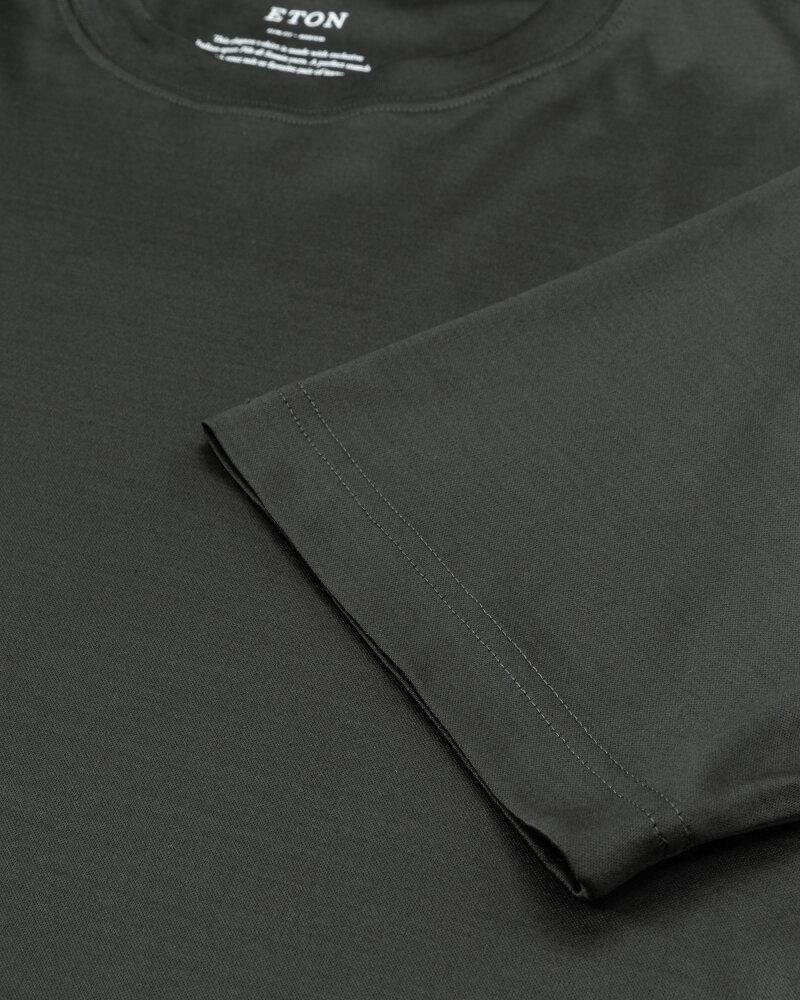 T-Shirt Eton 1000_02356_69 ciemnozielony - fot:3