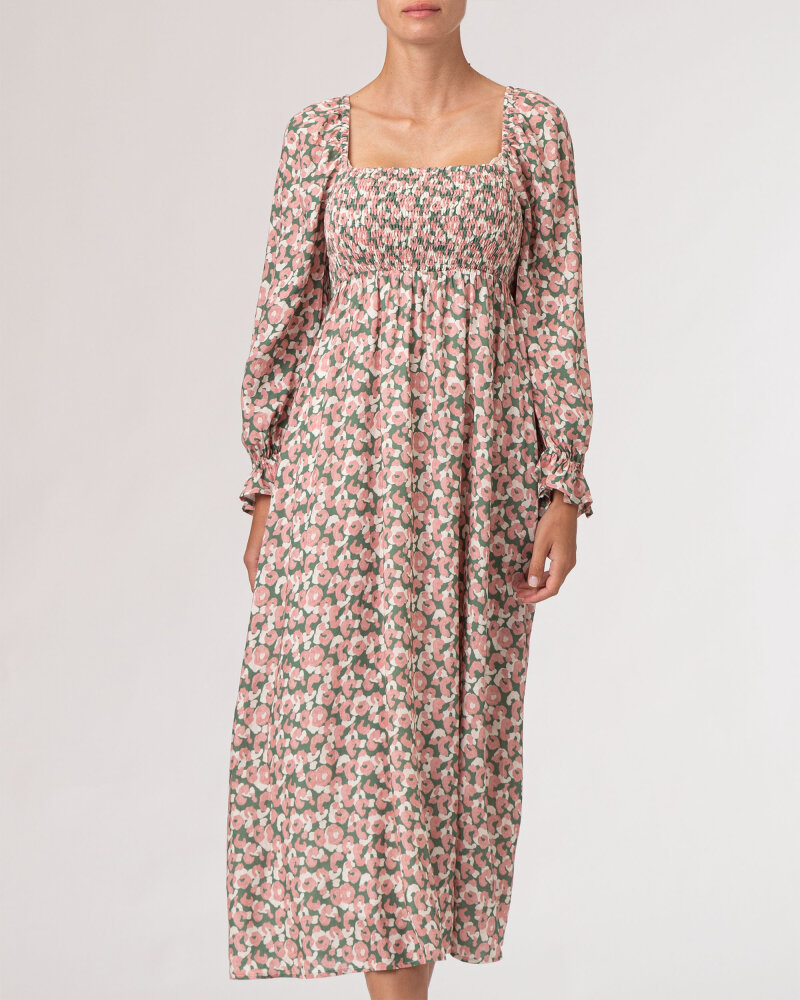 Sukienka Na-Kd 1018-007258_PEACH FLOWER różowy - fot:2
