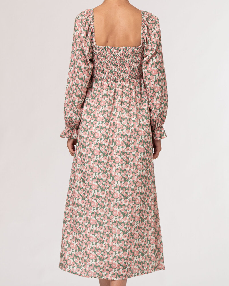 Sukienka Na-Kd 1018-007258_PEACH FLOWER różowy - fot:4