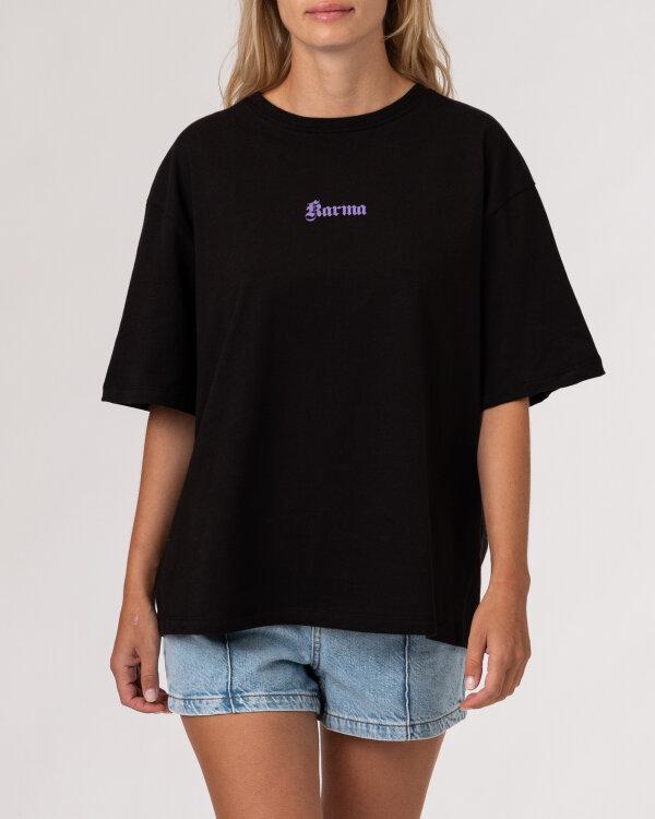 T-Shirt Na-Kd 1100-004261_BLACK czarny