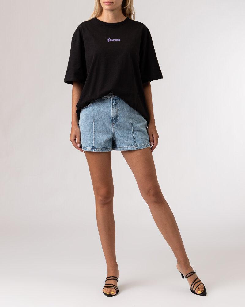 T-Shirt Na-Kd 1100-004261_BLACK czarny - fot:5