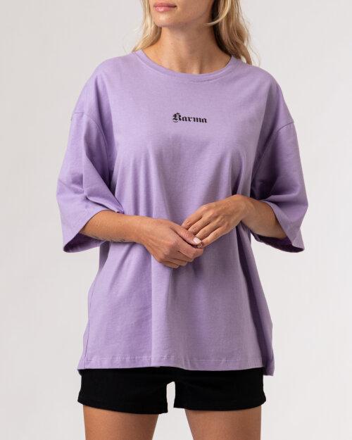 T-Shirt Na-Kd 1100-004261_PURPLE fioletowy