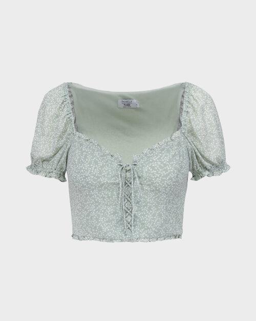 Bluzka Na-Kd 1659-000078_MINI LEAVES jasnozielony