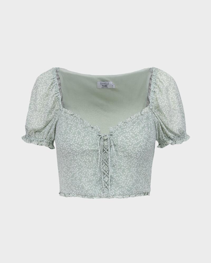 Bluzka Na-Kd 1659-000078_MINI LEAVES jasnozielony - fot:1
