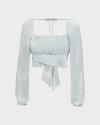 Bluzka Na-Kd 1659-000080_MINI LEAVES jasnozielony