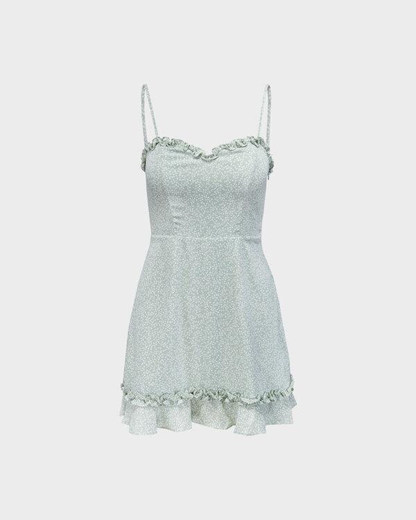 Sukienka Na-Kd 1659-000070_MINI LEAVES jasnozielony