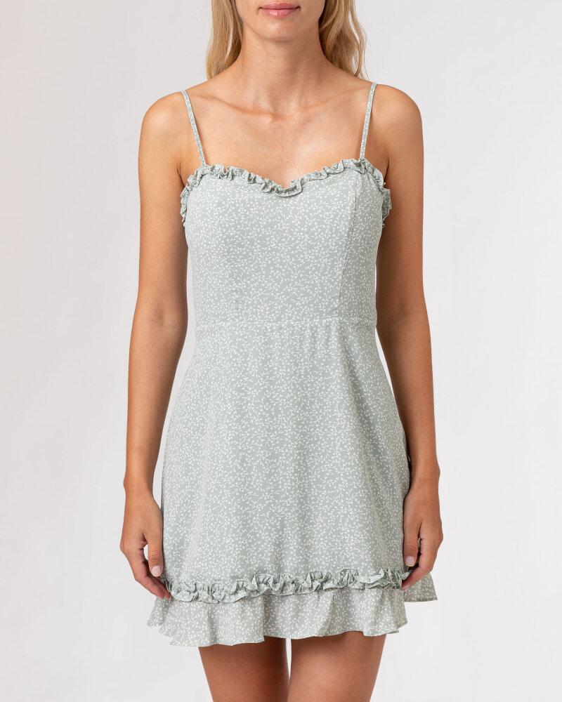 Sukienka Na-Kd 1659-000070_MINI LEAVES jasnozielony - fot:2