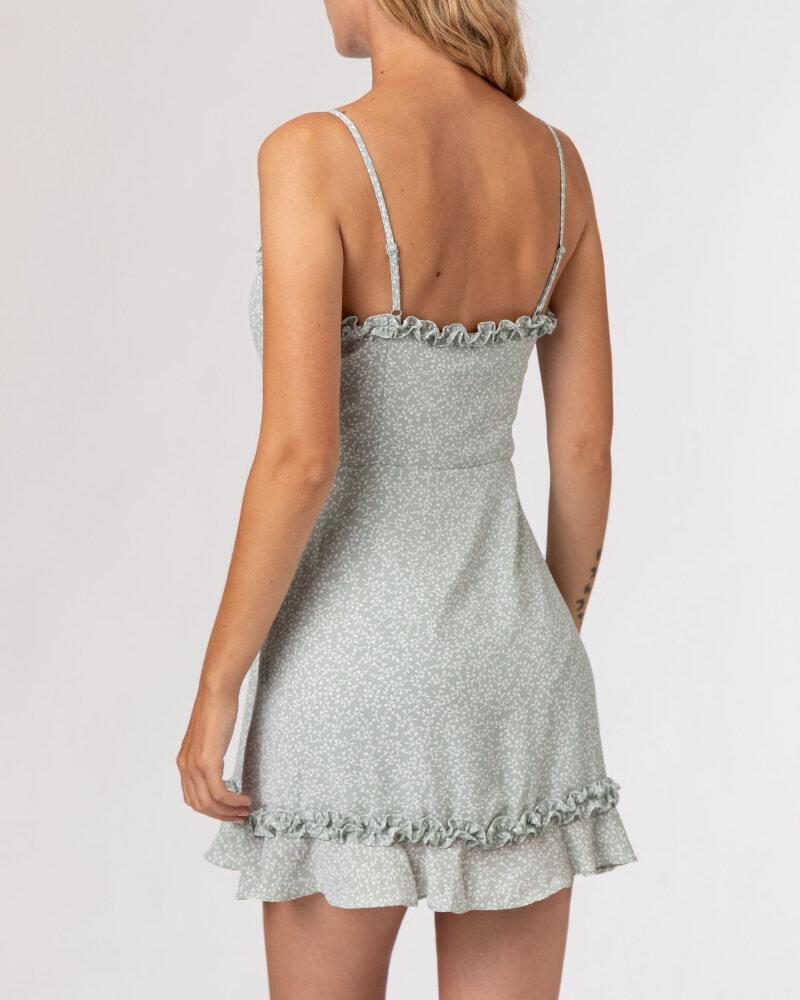 Sukienka Na-Kd 1659-000070_MINI LEAVES jasnozielony - fot:4