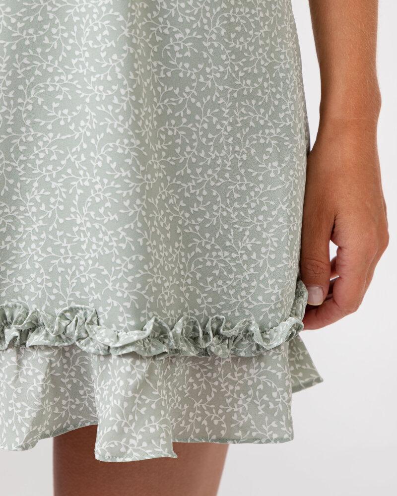 Sukienka Na-Kd 1659-000070_MINI LEAVES jasnozielony - fot:5