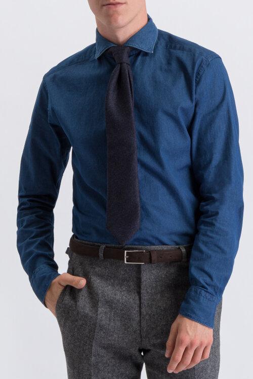 Krawat Oscar Jacobson 6580_3707_244 granatowy