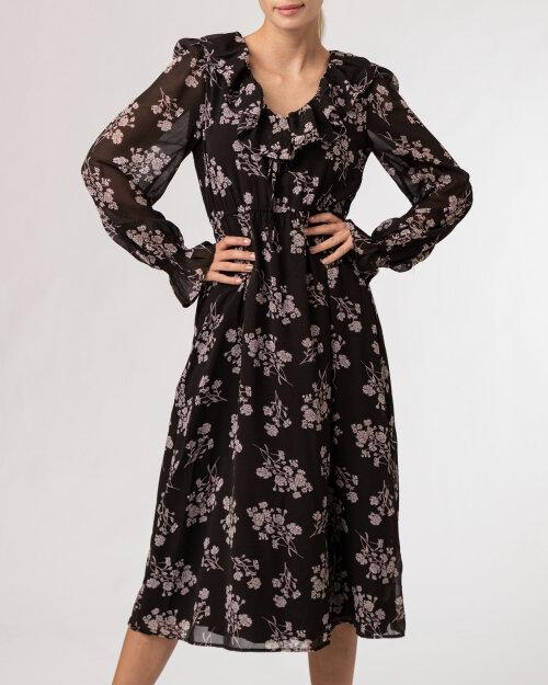 Sukienka Na-Kd 1100-004335_FLOWER PRINT czarny