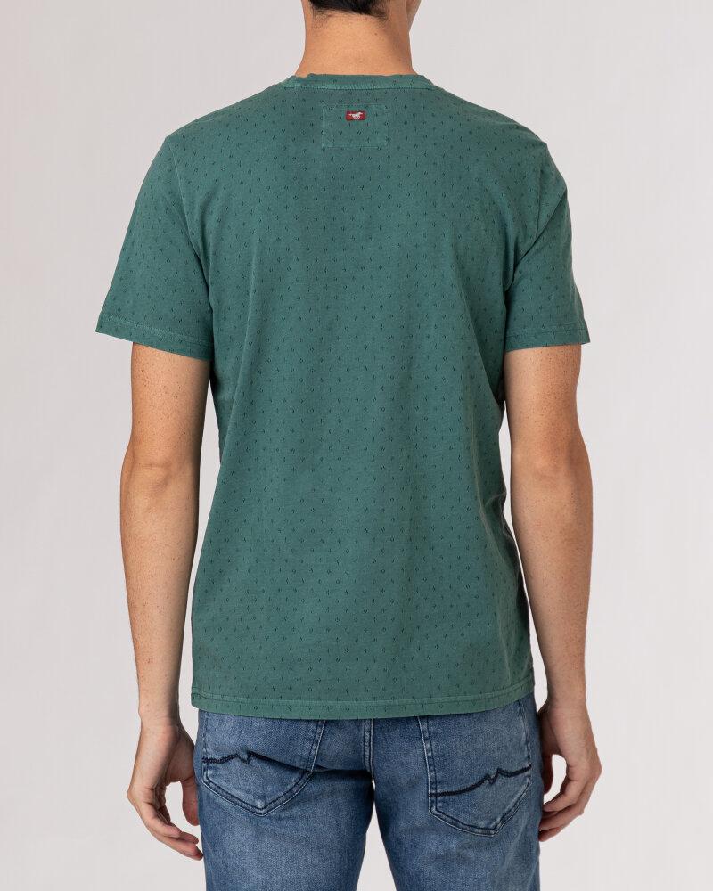 T-Shirt Mustang 1010726_6430 ciemnozielony - fot:4
