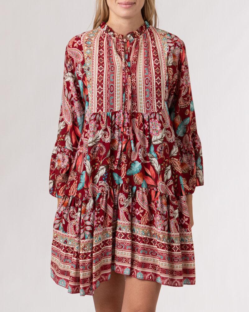 Sukienka Le Journal Coco 12RSU1138R_RÓŻ bordowy - fot:2