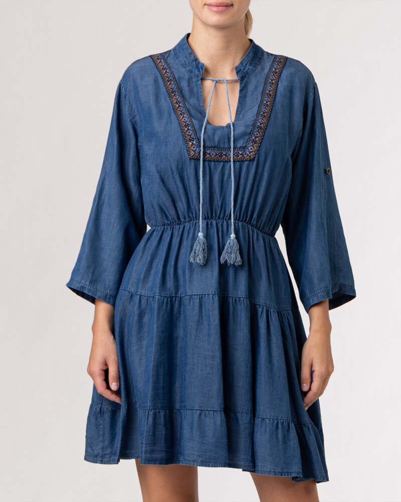 Sukienka Le Journal Coco 12DSU1223J_TENCEL niebieski - fot:4