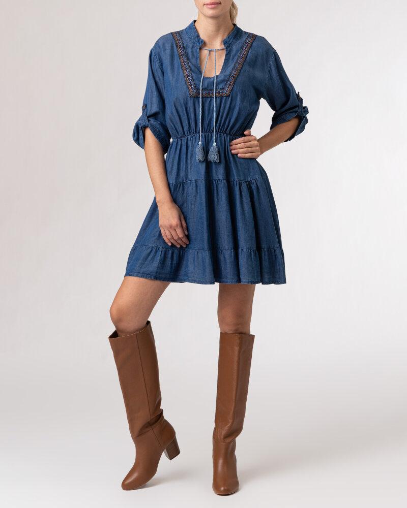 Sukienka Le Journal Coco 12DSU1223J_TENCEL niebieski - fot:8
