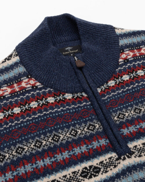 Sweter Fynch-Hatton 1221290_1609 granatowy