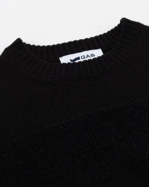 Sweter Gas A2389_EVERI STRIPES/R     _0200 czarny