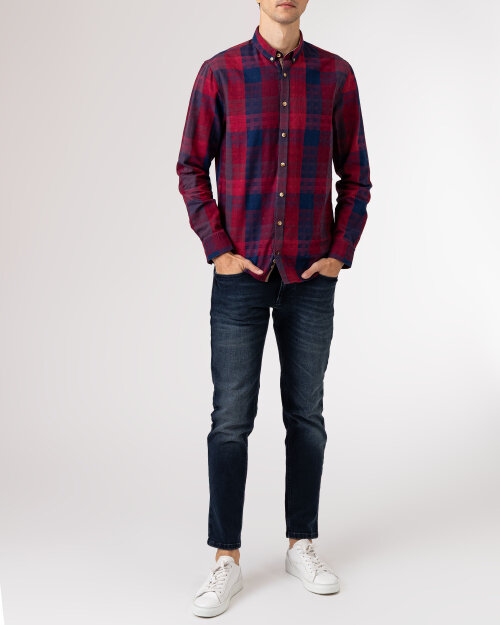 907102443 Colours & Sons 9221-250_252 RED BLUE CHECK czerwony