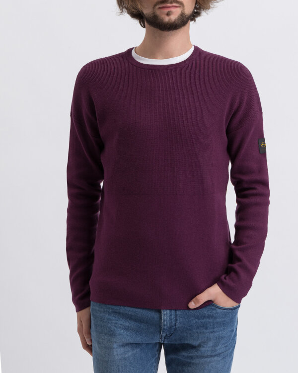 Sweter New In Town 8995020_385 bordowy