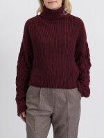 Sweter Na-Kd 1018-003322_BURGUNDY bordowy