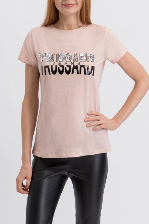 T-Shirt Trussardi Jeans 56T00208_1T003062_P015 różowy