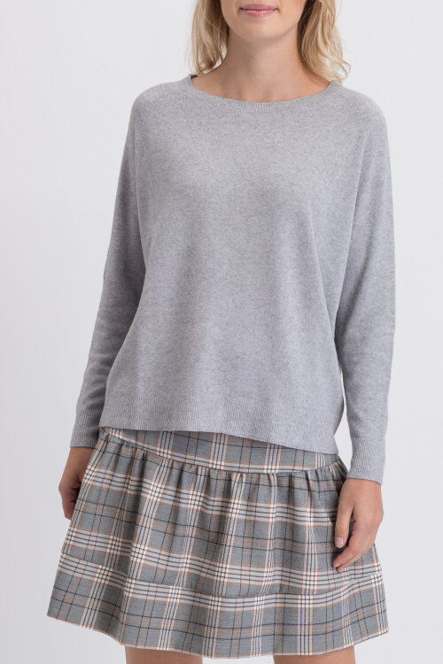 Sweter Fraternity JZ19_162_LIGHT GREY jasnoszary