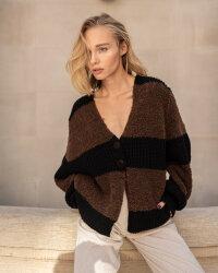 Sweter Fraternity JZ19_5076_BLACK/BROW brązowy- fot-0