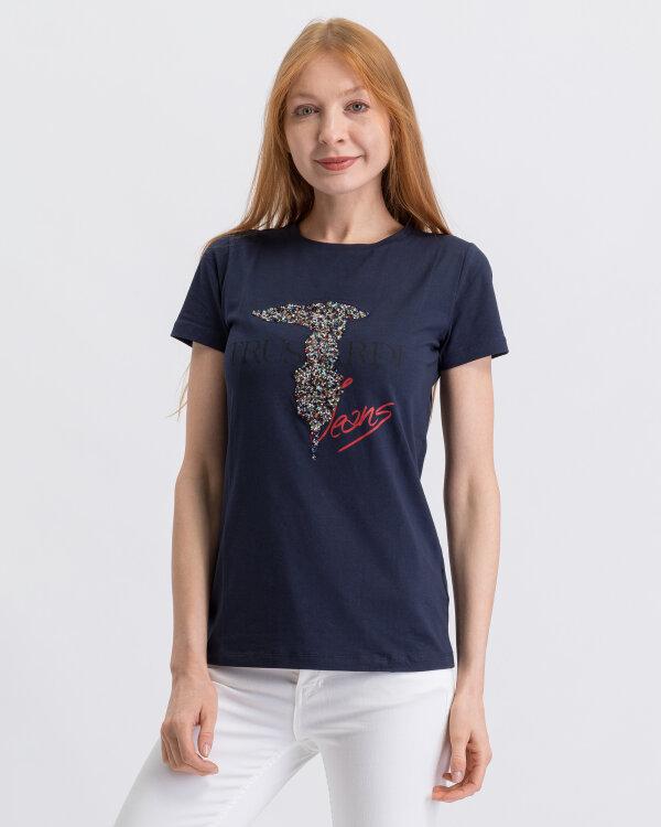 T-Shirt Trussardi Jeans 56T00200_1T001638_U290 granatowy