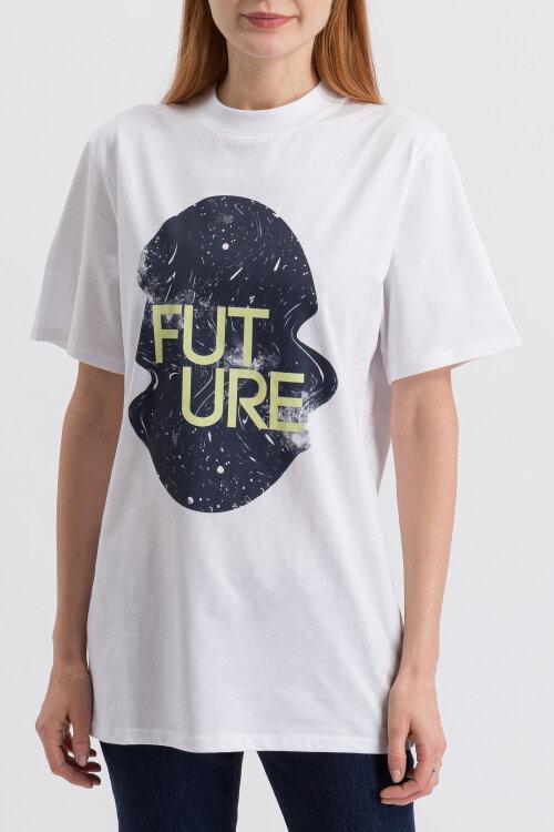 T-Shirt Na-Kd 1018-003242_WHITE biały