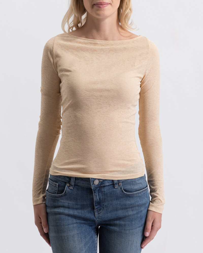 T-Shirt Na-Kd 1018-003240_BEIGE beżowy - fot:1