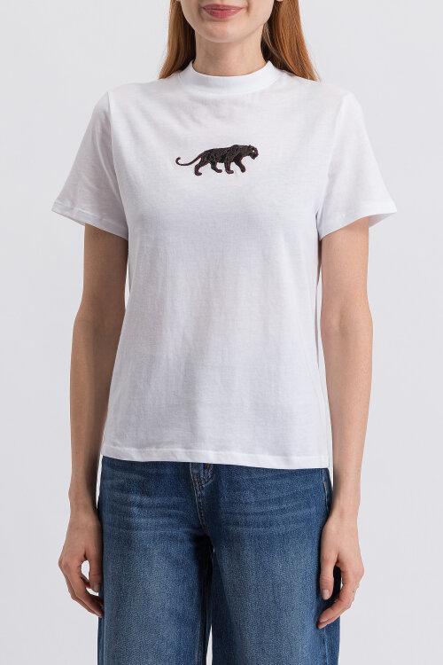 T-Shirt Na-Kd 1018-003239_WHITE biały